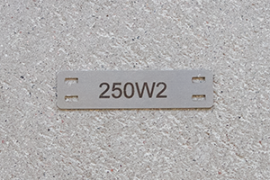 Engraved Stainless Steel Cable Mark
